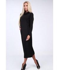 dc56504ca288 FASARDI Čierne šaty so širokým golierom  S
