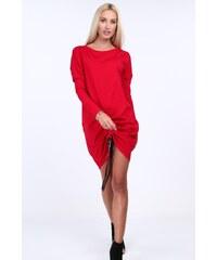 FASARDI Červené dámske šaty so zlatými gombíkmi  M L - Glami.sk 0235002bd17