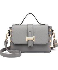 Miss Lulu šedá crossbody kabelka v nýtkovaném designu 6858 641725276f5