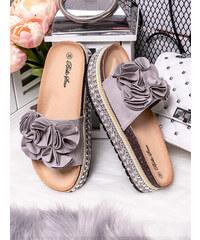 MODANOEMI Korkové šedé pantofle Bello Star S61S 8bb16888ca8