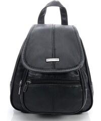 Bag Street elegantní černý kožený batoh 6625-1 155cd956f8