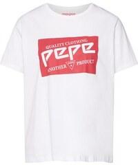 Dámské triko Pepe Jeans Greta Bílá - Glami.cz 0ec8d60ce6