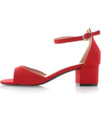 c49c05acffa3 Červené semišové dámské sandály - Glami.cz