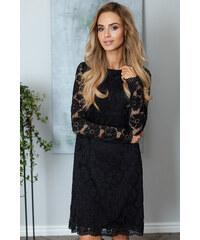 Malé černé šaty pro plnoštíhlé  eddbc8550f8