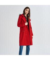 Sinsay - Červený kabát - Červená 624ff38a499