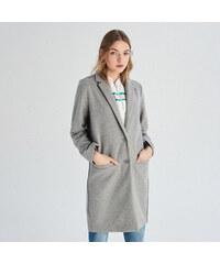 Sinsay - Jednoradový kabát - Šedá dfdc628a69a