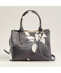 Mohito - Kabelka city bag s rostlinným motivem - Tmavomodrá 59855a41555