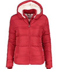 Lee Cooper 2 Zip Bubble jacket Ladies Berry Red f15af471e3