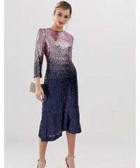 Oasis sequin midi dress in ombre purple - Purples deb3095ccf4