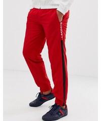 Lacoste side stripe jogging bottoms - Black white navy 7d9371059d