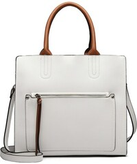 fecd3f81dd Lulu Bags (Anglie) Biela dámska elegantná kabelka Miss Lulu s čelným vreckom