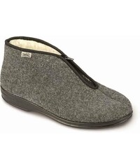 b9c297a225e Bačkory papuče důchodky Befado 100M047 teplé šedé na zip
