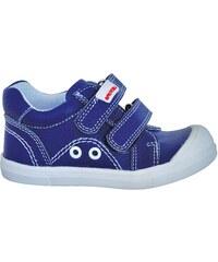7b2c38688f11 Protetika Chlapčenské členkové barefoot topánky Levis - modro-zelené ...