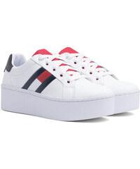 Tommy Hilfiger biele tenisky na platforme Tommy Jeans Icon Sneaker 39373a6f86a