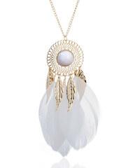 3f5f14b49 B-TOP Dámsky dlhý náhrdelník LAPAČ SNOV - bílý