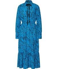 ONLY Košilové šaty  onlMUNI L S  nebeská modř   černá f89dc9ade44