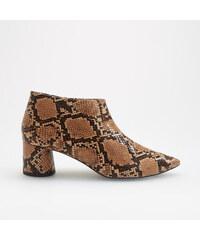 9bfd359cb6ed Reserved - Členkové topánky s efektom hadej kože - Viacfarebn