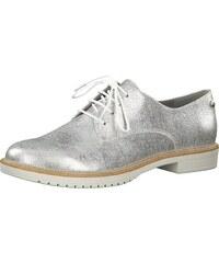 b60facdde46 TAMARIS Šněrovací boty stříbrná   bílá
