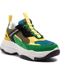 Sneakersy CALVIN KLEIN JEANS - Marvin S0592 Black Green Lemon 1c1c2f95e89