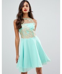 1f856273c2 AX Paris tulle skater dress with embellished detail - Mint