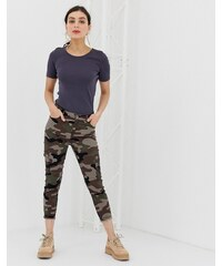 Benetton cargo denim pants with army print - Multi f48a45e528