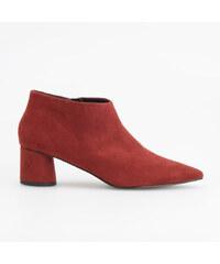 Reserved - Členkové topánky so stredne vysokým opätkom - Bordový 72fdf4559f0