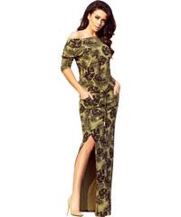190cb07c166d Dámské šaty NUMOCO A220-2 KHAKI