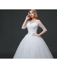 Donna Bridal Nádherné tylové svatební šaty s květinky - UŠIJEME V RŮZNÝCH  BARVÁCH 3033-033 90f033ea6f4