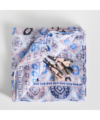 0ddbfd5cef2 Sinsay - Vzorovaná šála s třásněmi - Vícebarevn