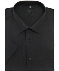 0f31c498d3f Černá pánská košile krátký rukáv Friends and Rebels 40101