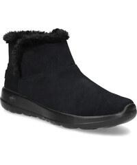 ee2139e6c4d Skechers Kožená zimní obuv s kožíškem černá
