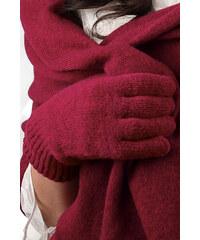 Vínové (tmavočervené) dámske rukavice na zimu Kamea 01 5997989046