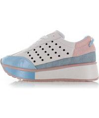 7866352201e7 Sergio Todzi Modro-biele platformové tenisky Tavia