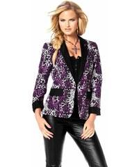Dámská saka, blejzr s leopardím vzorem, Melrose 34 lila