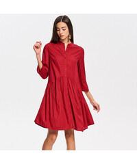 Reserved - Viskózové šaty - Červená 41829dc8d8
