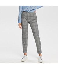 1f37a1dd61b Reserved - Kostkované kalhoty - Modrá