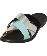 ded036d413 Pieces Dámske šľapky Cari Leather Sandal Silver
