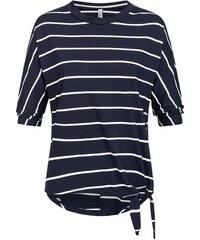 c3d512bb405a Hailys dámské pruhované triko Nadja volný střih modré