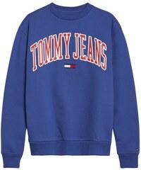 Dámská mikina Tommy Hilfiger Jeans Logo Crew Modrá 9cd5c601564