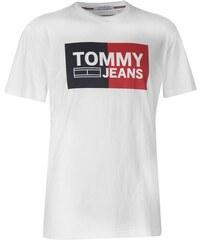 Pánské triko Tommy Hilfiger Jeans Essential Split Bílé f3951590490