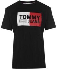 Pánské triko Tommy Hilfiger Jeans Essential Split Černé c4b973b9f3c