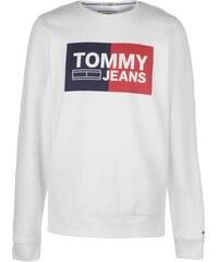 8e25fed8c9 Pánská mikina Tommy Hilfiger Jeans Essential Block Bílá