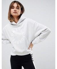 Karl Lagerfeld circle logo hoodie - Light grey melange e58cf3d2dc3