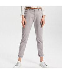 5ef91cb0c44 Reserved - Kalhoty chino - Světle šed