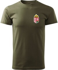 07776292a631 O&T trikó kicsi magyar címerrel, oliva 160g/m2
