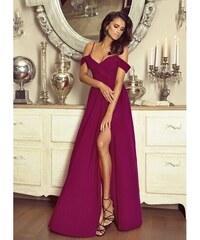 PLANETA-MODY Spoločenské šaty Elizabeth - bordó dc4ea188cc3