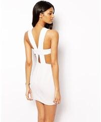 AQ/AQ - Chrissy - 2-in-1-Kleid mit Trägern am Rücken - Cremeweiß