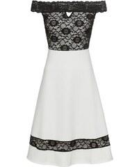 Bílé krajkové šaty s korálkovou aplikací YEST - Glami.cz 5728998ecc