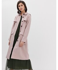 Y.A.S premium belted trench coat in blush - Adobe pink 7ba9c779915