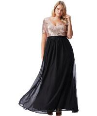03517ecff8d Černé dlouhé šaty se zlatým živůtkem City Goddess Batma